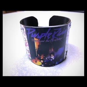Jewelry - Prince Purple Rain vinyl record cuff